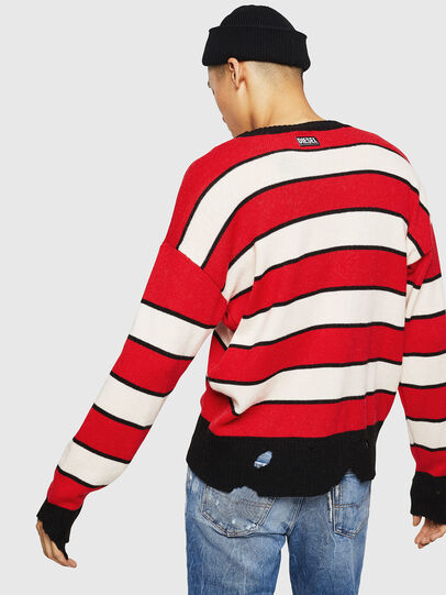 Diesel - K-LOVERY, Red/White - Knitwear - Image 2