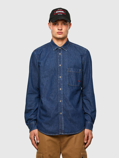 Diesel - D-BILLY, Dark Blue - Denim Shirts - Image 1