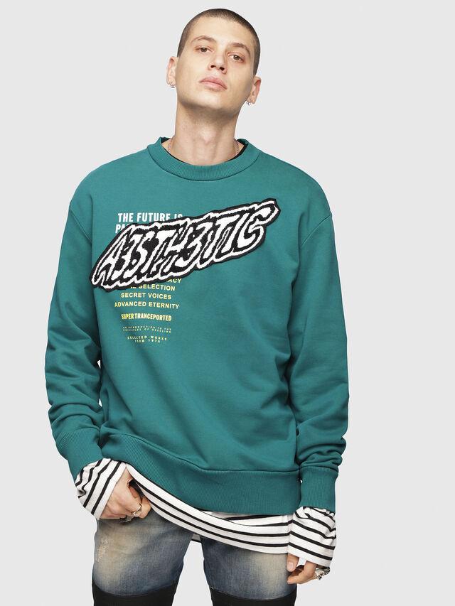 Diesel - S-BAY-YC, Dark Green - Sweaters - Image 1