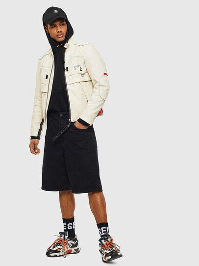 Diesel - L-DIXON, White - Leather jackets - Image 8