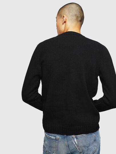 Diesel - K-CV-PATCH, Black - Knitwear - Image 2