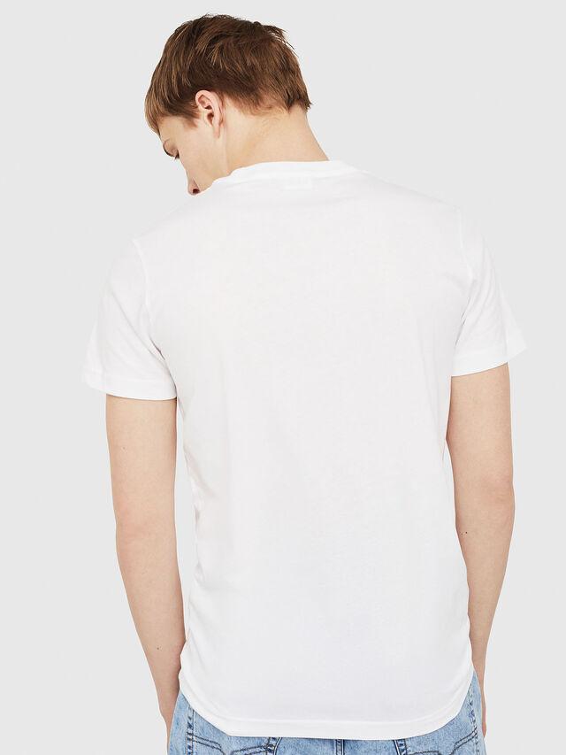 Diesel - T-DIEGO-C2, White/Red/Blu - T-Shirts - Image 2
