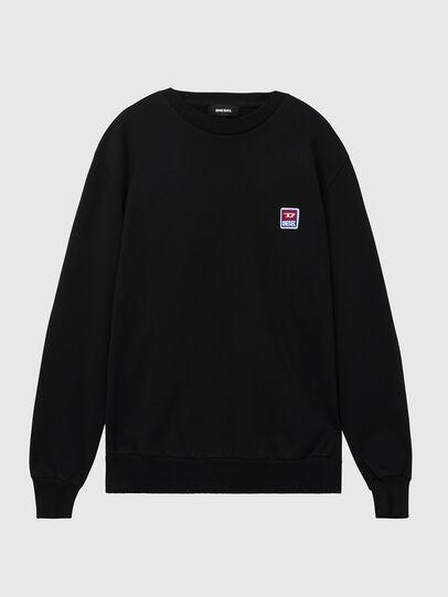 Diesel - S-GIR-DIV-P, Black - Sweaters - Image 1