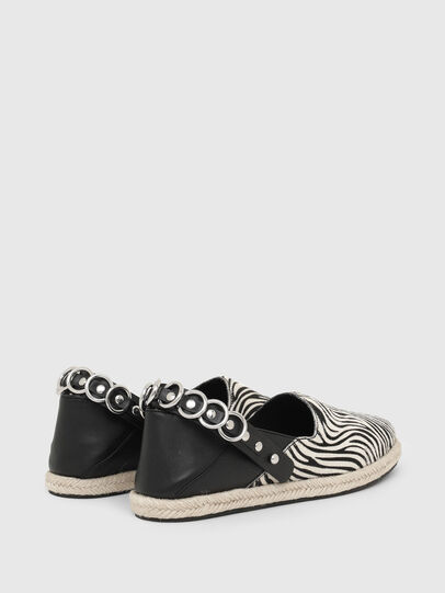 Diesel - S-LIMA W, Black/White - Flats - Image 3