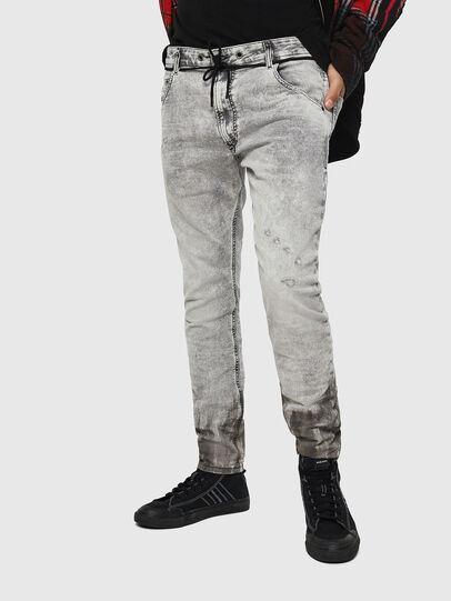 Diesel - Krooley JoggJeans 0091H, Light Grey - Jeans - Image 1