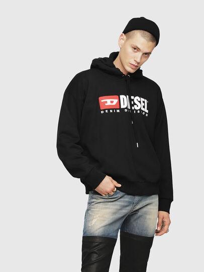 Diesel - S-DIVISION, Black - Sweaters - Image 1