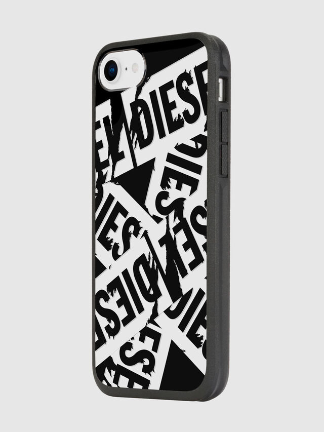 Diesel - MULTI TAPE BLACK/WHITE IPHONE 8/7/6S/6 CASE, Black - Cases - Image 5