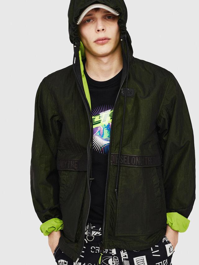 Diesel - J-HISAMI, Dark Green - Jackets - Image 1