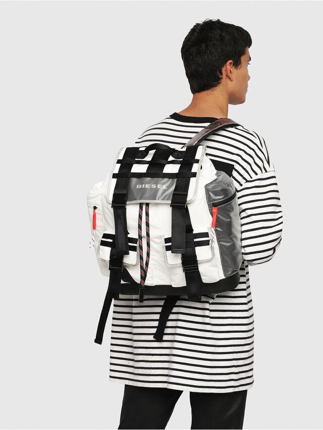 Diesel - M-CAGE BACK, White/Black - Backpacks - Image 5