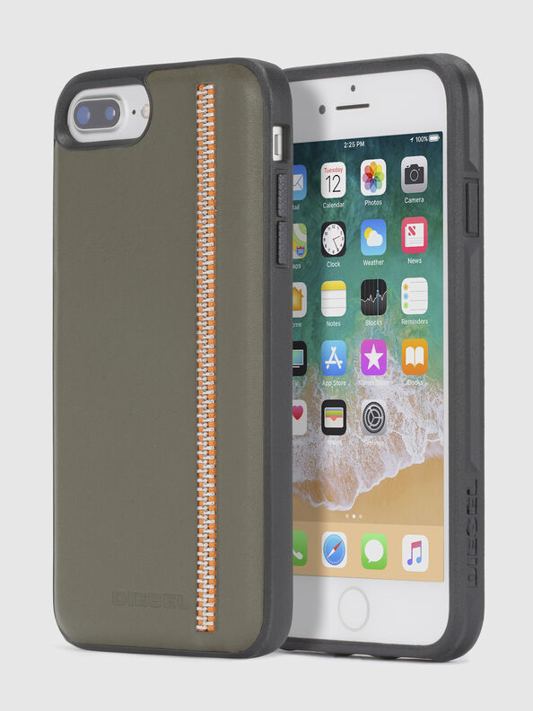 ZIP OLIVE LEATHER IPHONE 8/7/6s/6 CASE,  - Cases
