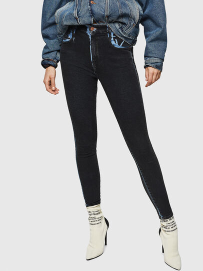 Diesel - Slandy High 0094B, Dark Blue - Jeans - Image 1