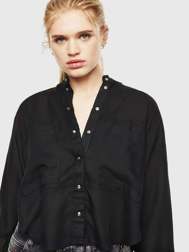 Diesel - C-SUPER-E, Black - Shirts - Image 3