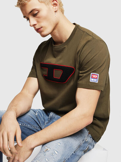 Diesel - T-JUST-DIVISION-D, Military Green - T-Shirts - Image 4