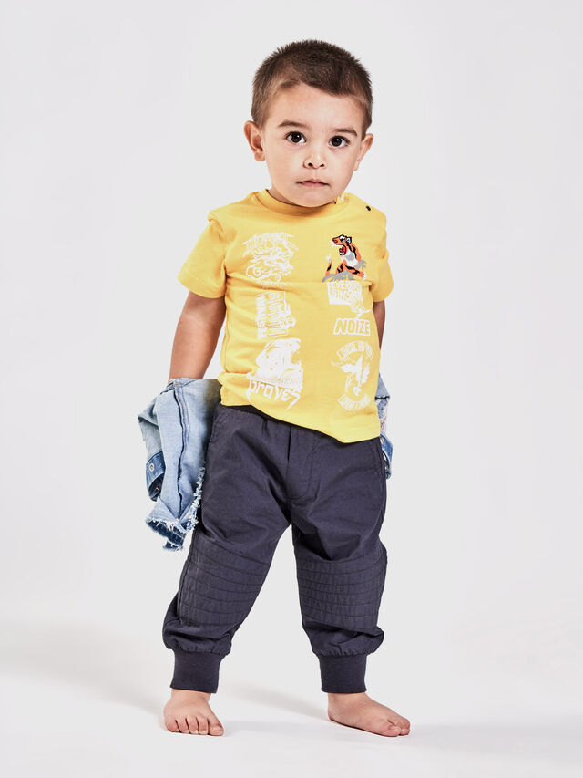Diesel - TUCSEB, Yellow - T-shirts and Tops - Image 4