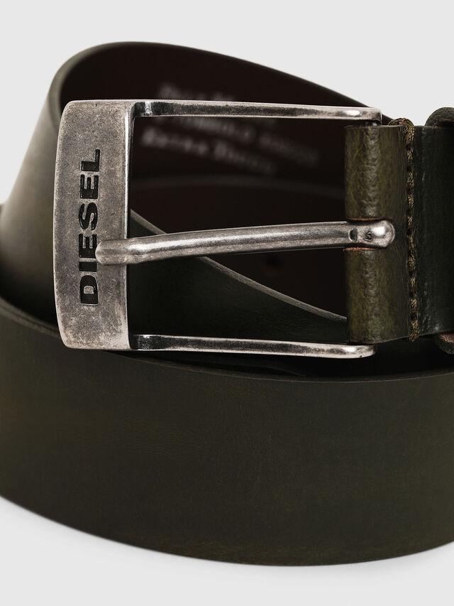 Diesel - B-TOMBOLO, Dark Green - Belts - Image 2