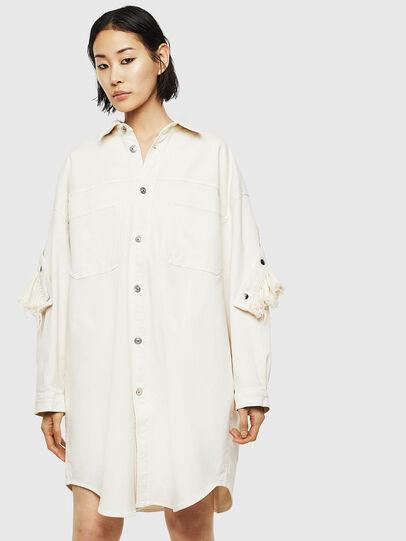 Diesel - D-BABOL JOGGJEANS, White - Dresses - Image 1