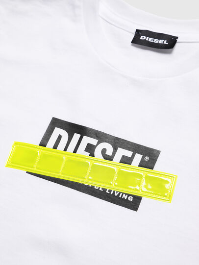 Diesel - TJUSTDIE, White - T-shirts and Tops - Image 3