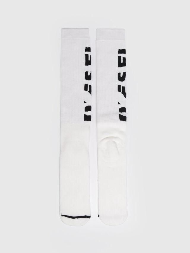 Diesel - SKM-LONG, White - Socks - Image 1