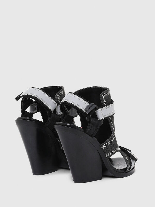 Diesel - SA-FLAMINGO HS, Black/Grey - Sandals - Image 3