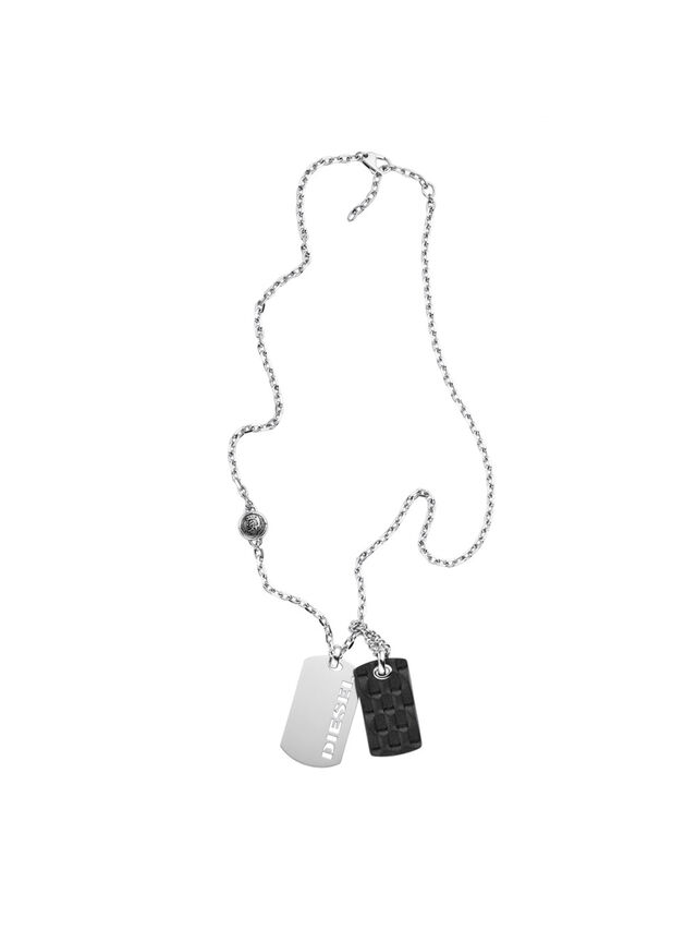 Diesel NECKLACE DX1014, Silver - Necklaces - Image 1