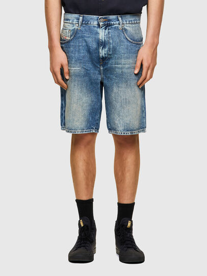 Diesel - D-STRUKT-SHORT, Light Blue - Shorts - Image 1