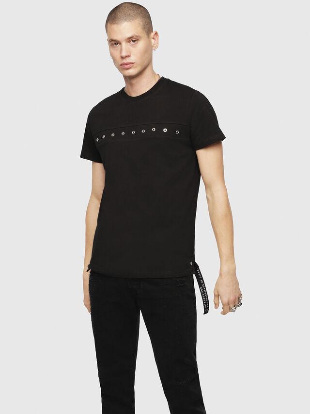 Diesel - T-DIEGO-XMAS, Black - T-Shirts - Image 1