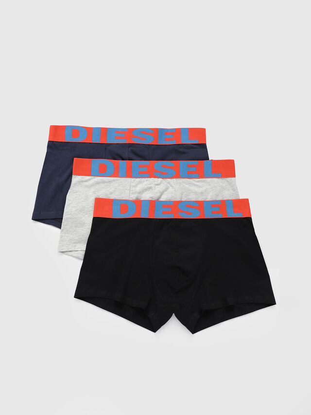 Diesel UMBX-SHAWNTHREEPACK, Blue/Orange - Trunks - Image 1