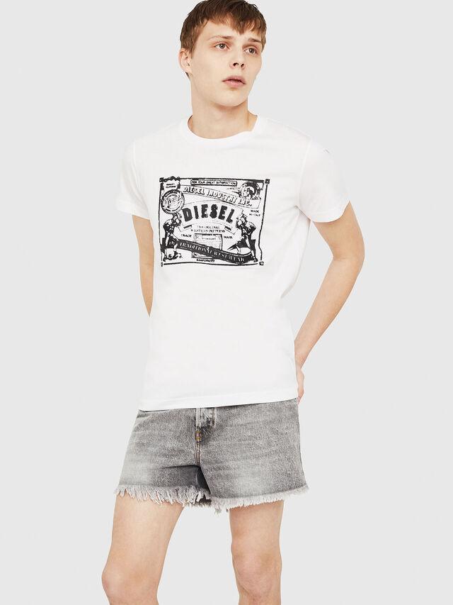 Diesel - T-DIEGO-C3, White - T-Shirts - Image 4