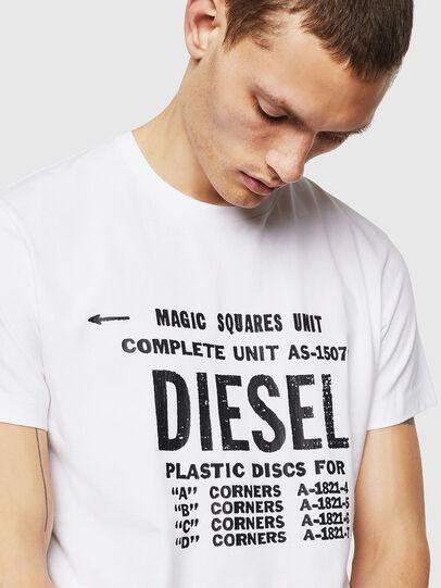 Diesel - T-DIEGO-B6, White - T-Shirts - Image 3