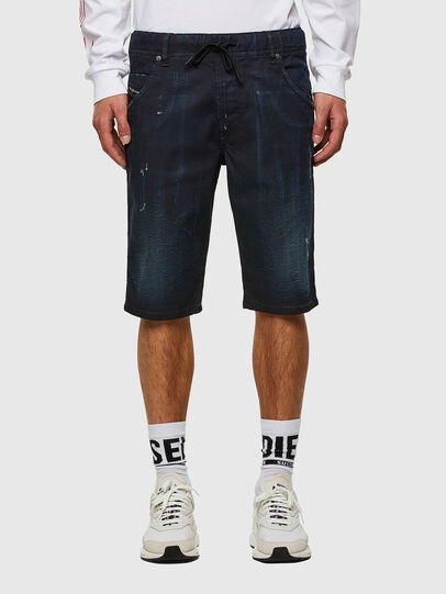 Diesel - D-KROOSHORT-SP JOGGJEANS, Dark Blue - Shorts - Image 1