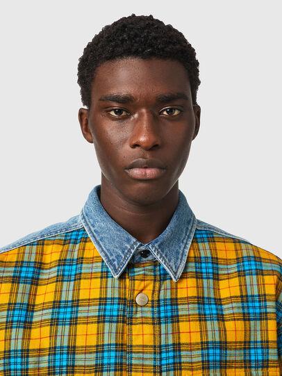 Diesel - S-BUN, Blue/Yellow - Shirts - Image 3