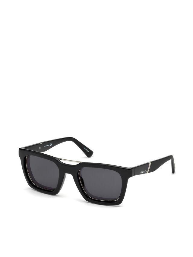 Diesel DL0250, Bright Black - Eyewear - Image 4