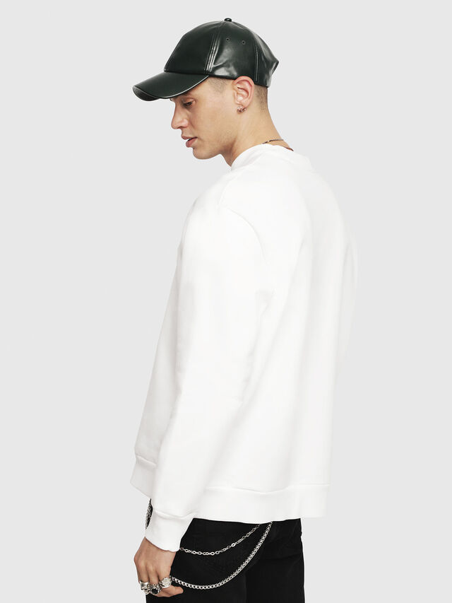 Diesel - S-CREW-DIVISION, White - Sweaters - Image 2