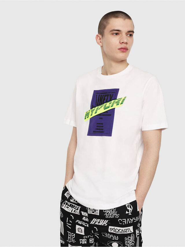 Diesel - T-JUST-Y7, White - T-Shirts - Image 1
