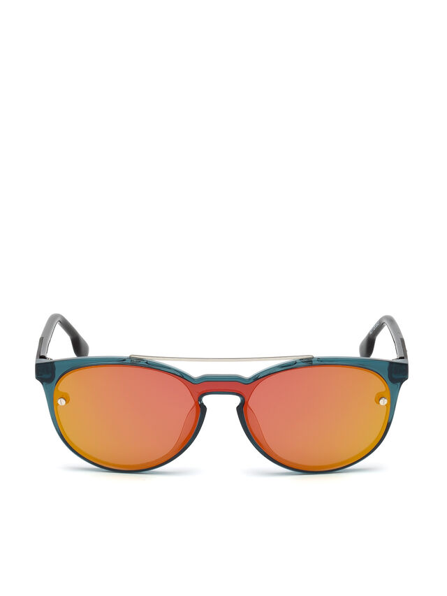 Diesel DL0216, Blue/Orange - Eyewear - Image 1