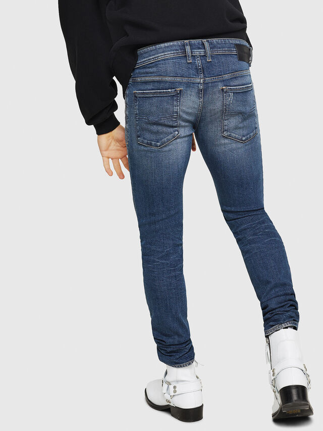 Diesel - Sleenker 069FI, Dark Blue - Jeans - Image 2