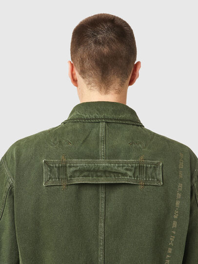 Diesel - D-NOVO-SP, Olive Green - Denim Jackets - Image 4