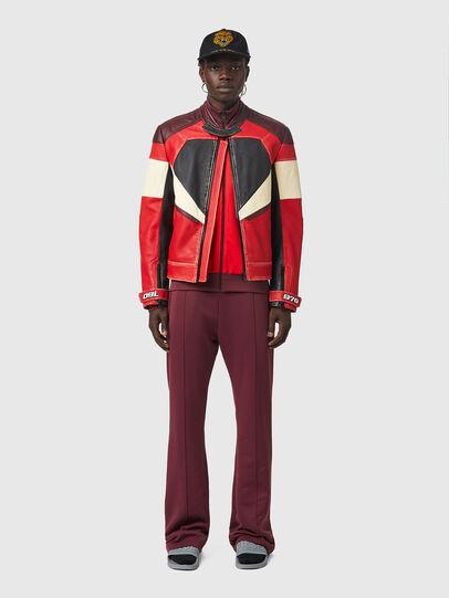 Diesel - L-TEAM, Red/Black - Leather jackets - Image 6