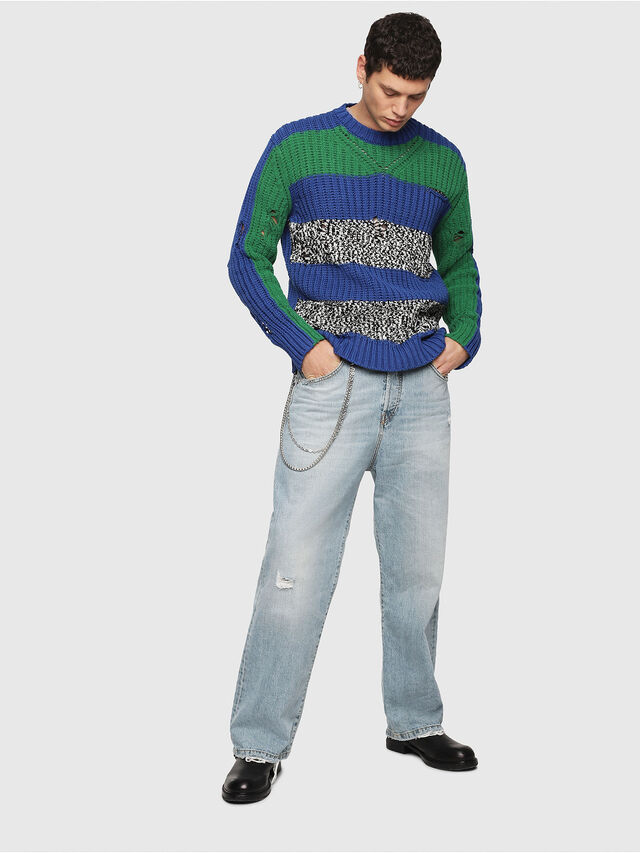 Diesel - K-DANIEL, Blue/Green - Knitwear - Image 5
