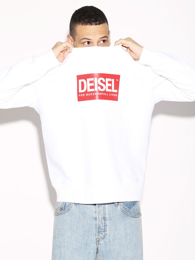 Diesel - DEIS-SGIRO, White - Sweaters - Image 2