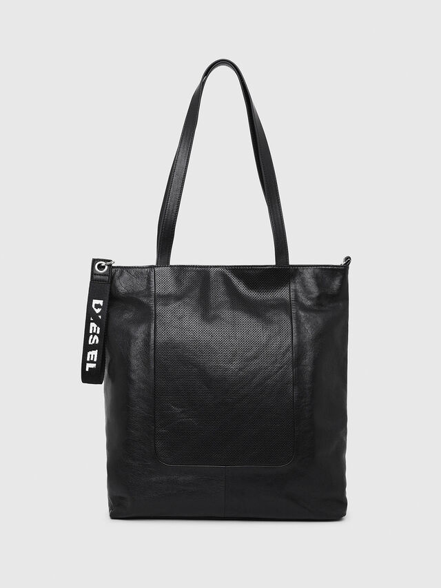 Diesel - L-TOLLE SHOPPER E/W, Black - Shopping and Shoulder Bags - Image 1