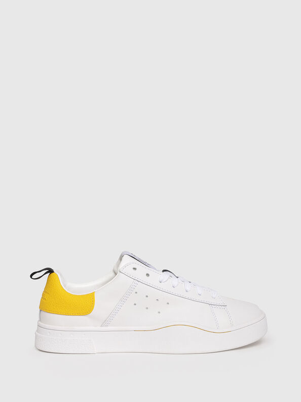 S-CLEVER LOW W, White/Yellow - Sneakers