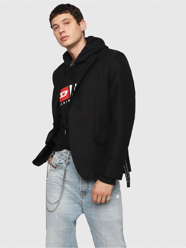 Diesel - J-SHO, Black - Jackets - Image 1