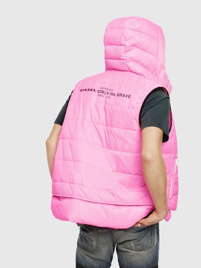 Diesel - W-SUN-REV-SLESS, Pink Fluo - Winter Jackets - Image 2