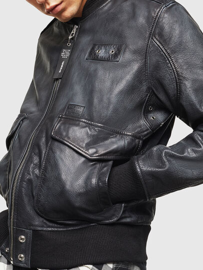 Diesel - L-OIUKI, Black - Leather jackets - Image 6