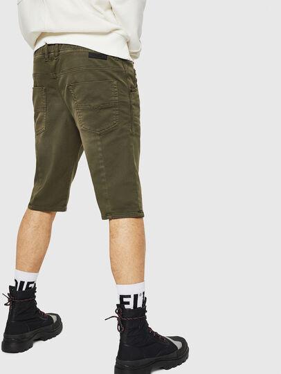 Diesel - D-KROOSHORT JOGGJEANS, Dark Green - Shorts - Image 2