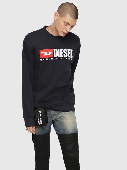 Diesel - S-CREW-DIVISION, Dark Blue - Sweaters - Image 1
