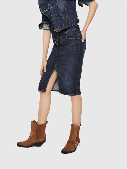 Diesel - DE-PENCIL, Blue - Skirts - Image 1