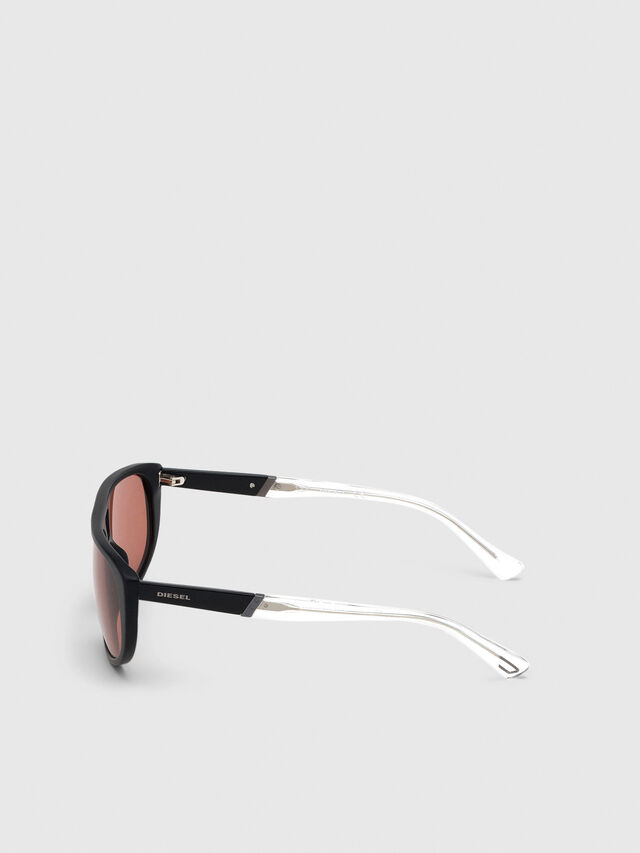 Diesel - DL0300, Black/White - Sunglasses - Image 3