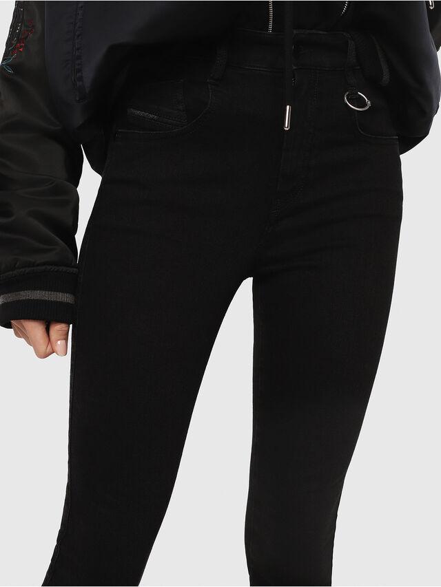 Diesel - Slandy High 085AV, Black/Dark grey - Jeans - Image 4